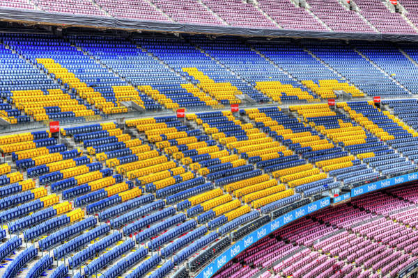 Wall Art - Photograph - Nou Camp Stadium Tiered Seating  by David Pyatt