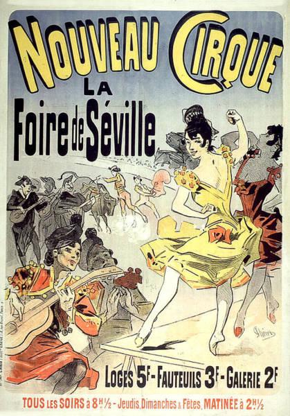 Painting - Nouveau Cirque Vintage French Advertising by Vintage French Advertising