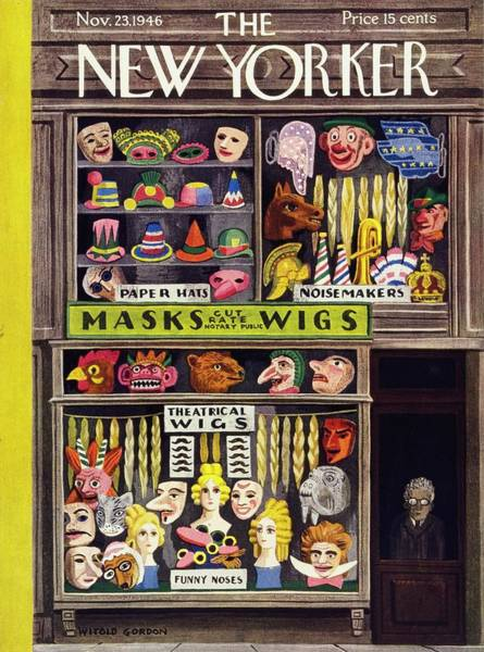 Storefront Painting - New Yorker November 23 1946 by Witold Gordon