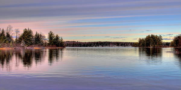 Photograph - November Clouds Over Dam Lake by Dale Kauzlaric