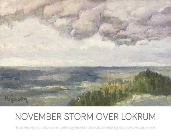 print of November Storm over Lokrum Art Print