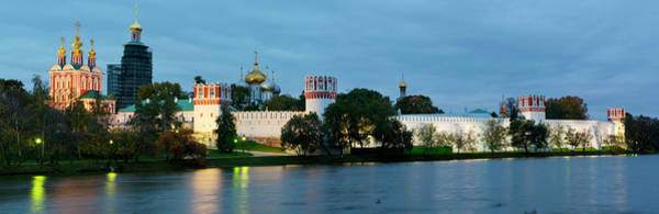 Wall Art - Photograph - Novospassky Monastery Lit Up At Night by Panoramic Images