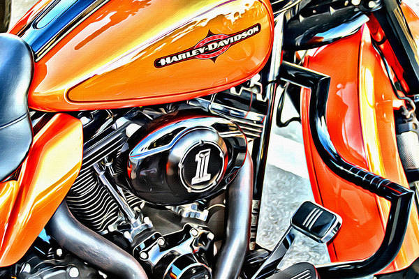 Daytona Bike Week Wall Art - Photograph - Now That Is Orange by Alice Gipson