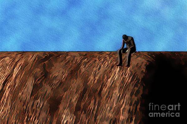 Wall Art - Painting - Nowhere Man. Inspired By The Fab Four by Pierre Blanchard