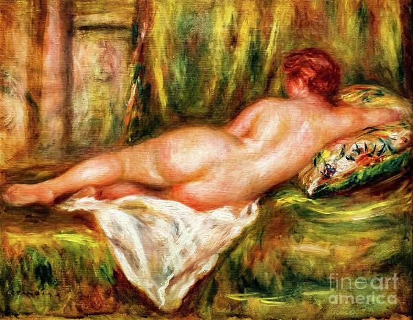 Painting - Nu Couche Vue De Dos by Auguste Renoir