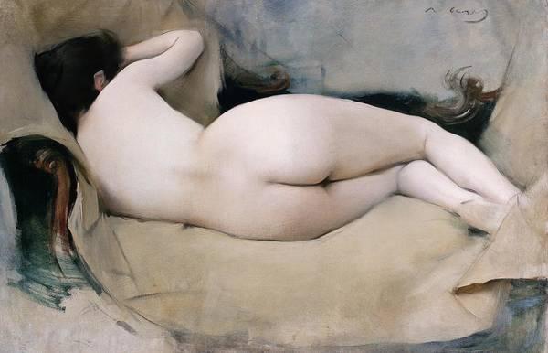 Wall Art - Painting - Nu Femeni - Digital Remastered Edition by Ramon Casas