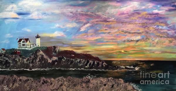 Painting - Nubble At Sunrise by Francois Lamothe
