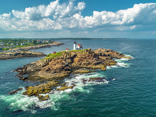 Photograph - Nubble In July by Michael Hughes