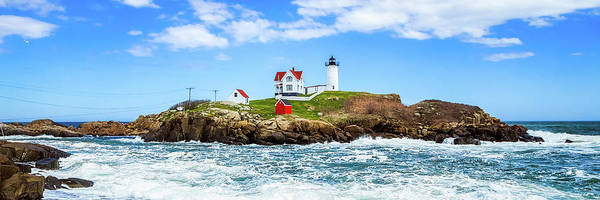 Photograph - Nubble Light 3x1 by Robert Clifford