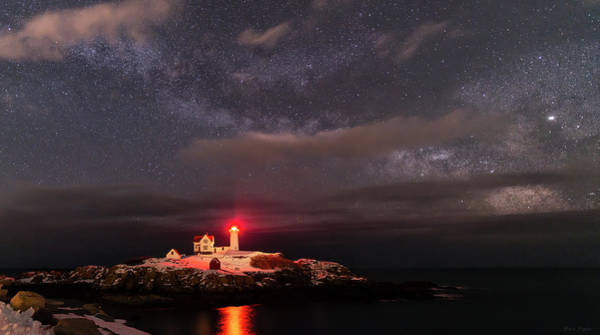 Photograph - Nubble Light At Night by Mark Papke