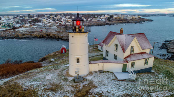 Photograph - Nubble Light Coating.  by Michael Hughes