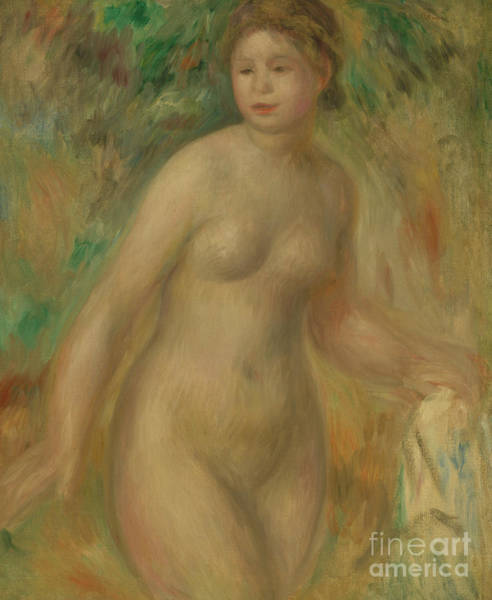 Wall Art - Painting - Nude, 1895 By Renoir by Pierre Auguste Renoir