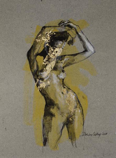 Wall Art - Painting - Nude B by Dorina Costras