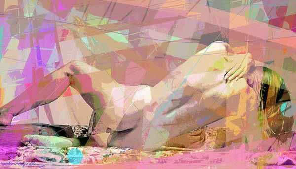 Painting - Nude Back Study Reclining by David Lloyd Glover
