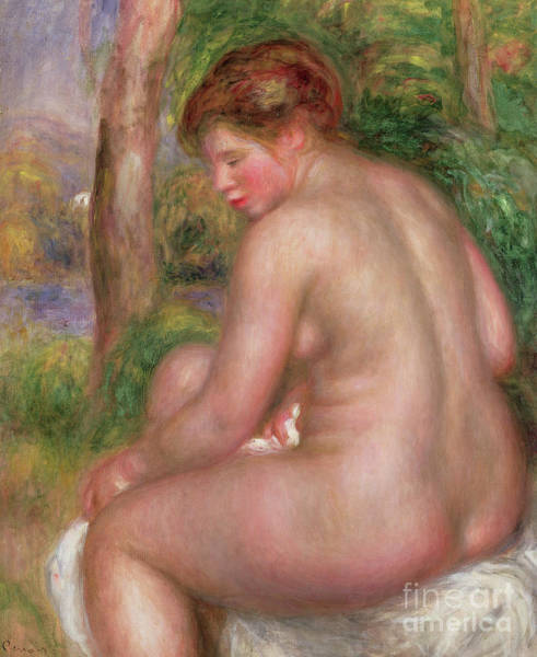Wall Art - Painting - Nude, Back View, 1911 by Pierre Auguste Renoir