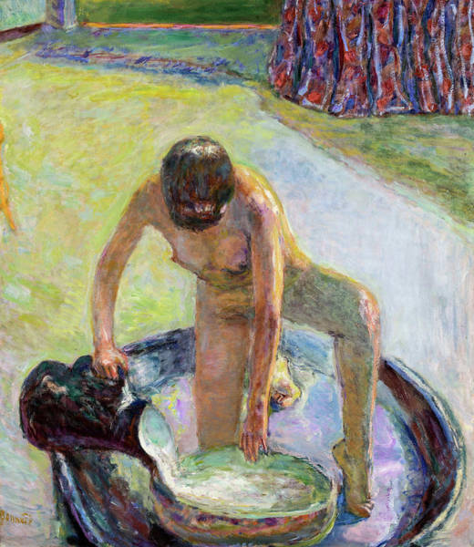 Wall Art - Painting - Nude Crouching In The Tub, 1918 by Pierre Bonnard