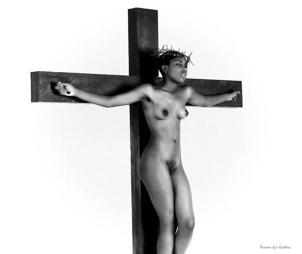 Wall Art - Photograph - Nude Crucifix 1 by Ramon Martinez