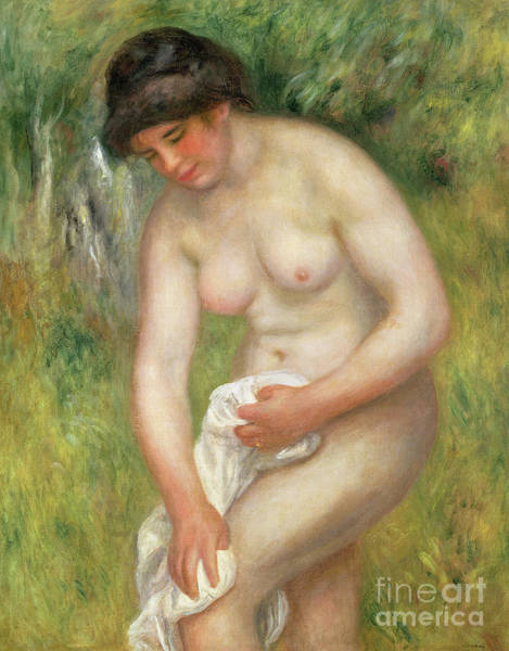 Wall Art - Painting - Nude, Green Background, 1902 by Pierre Auguste Renoir