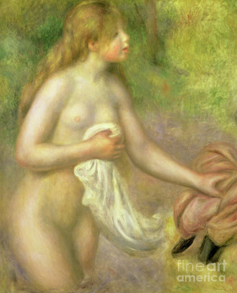 Wall Art - Painting - Nude In Brook, 1895 by Pierre Auguste Renoir