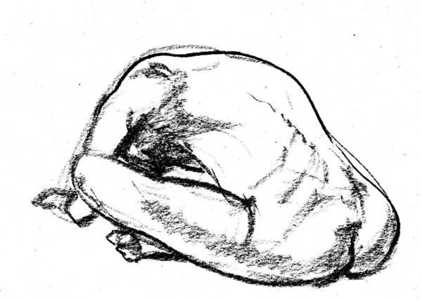 Wall Art - Drawing - Nude Male Gesture Xix by Irina Sztukowski