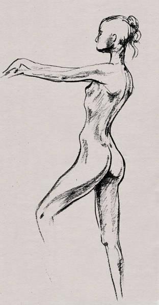 Drawing - Nude Model Gesture Xix by Irina Sztukowski