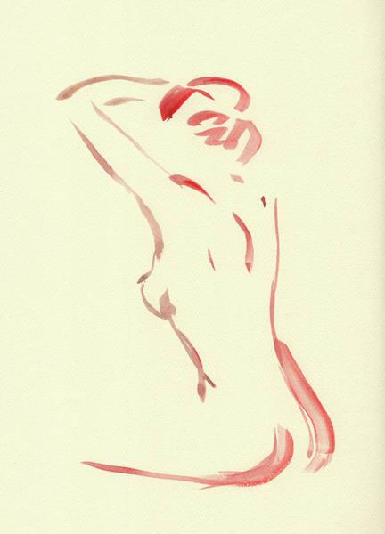 Wall Art - Painting - Nude Model Gesture Xlii by Irina Sztukowski