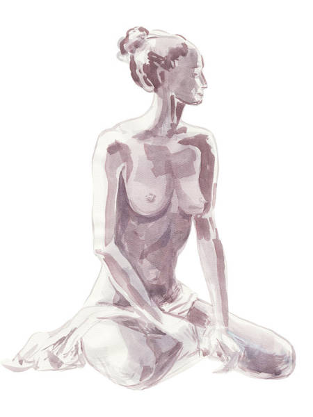 Wall Art - Painting - Nude Model Gesture Xlvii by Irina Sztukowski