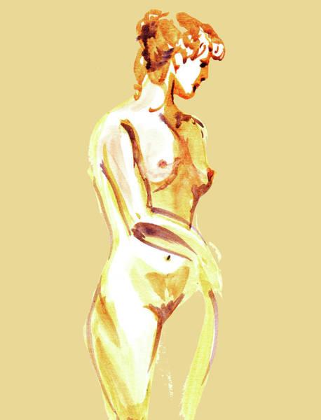 Wall Art - Painting - Nude Model Gesture Xxiii by Irina Sztukowski