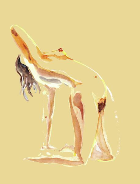 Wall Art - Painting - Nude Model Gesture Xxiv by Irina Sztukowski