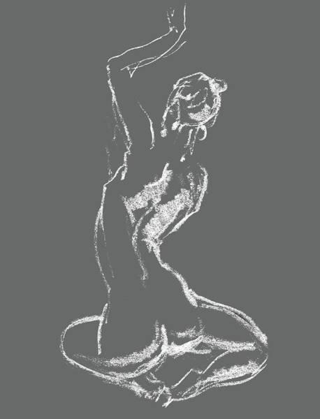 Wall Art - Drawing - Nude Model Gesture Xxviii by Irina Sztukowski