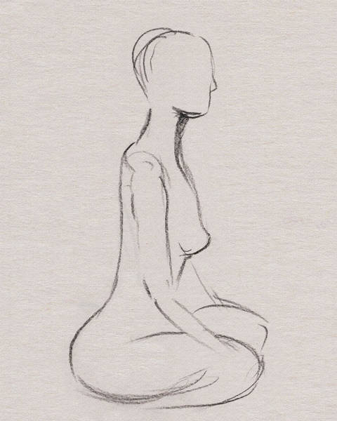 Drawing - Nude Model Gesture Xxxv by Irina Sztukowski
