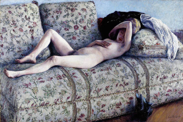 Wall Art - Painting - Nude On A Couch - Digital Remastered Edition by Gustave Caillebotte