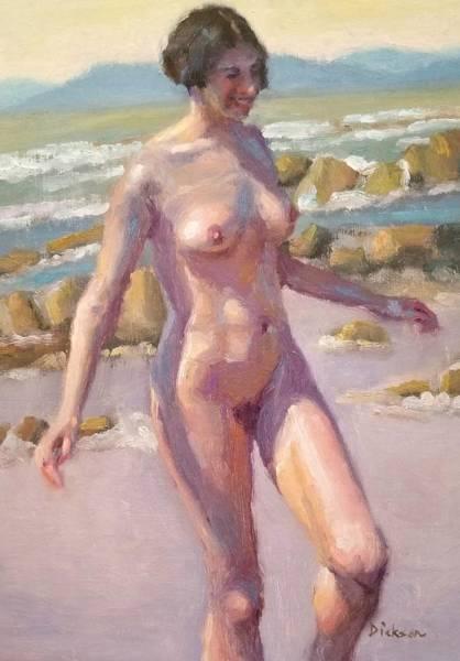 Painting - Nude On Beach by Jeff Dickson