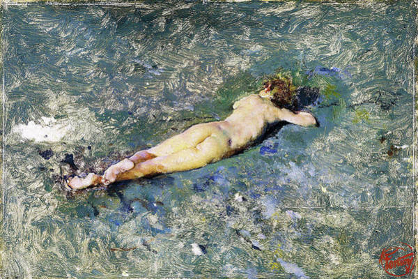 Wall Art - Painting - Nude On The Beach At Portici - Digital Remastered Edition by Mariano Fortuny