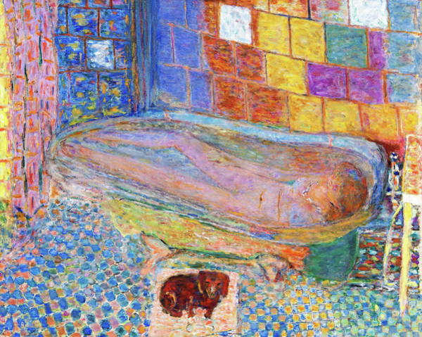 Wall Art - Painting - Nude The Bathtub - Digital Remastered Edition by Pierre Bonnard