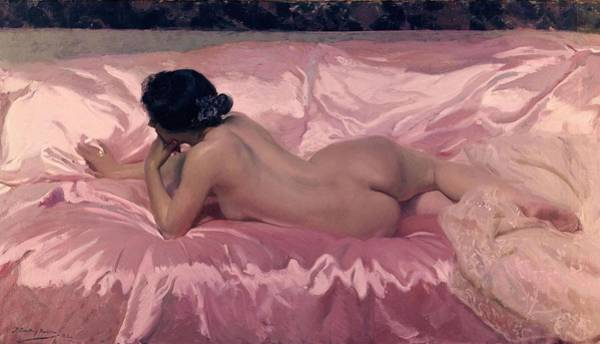Wall Art - Painting - 'nude Woman', 1902, Oil On Canvas, 106 X 186 Cm. by Joaquin Sorolla -1863-1923-