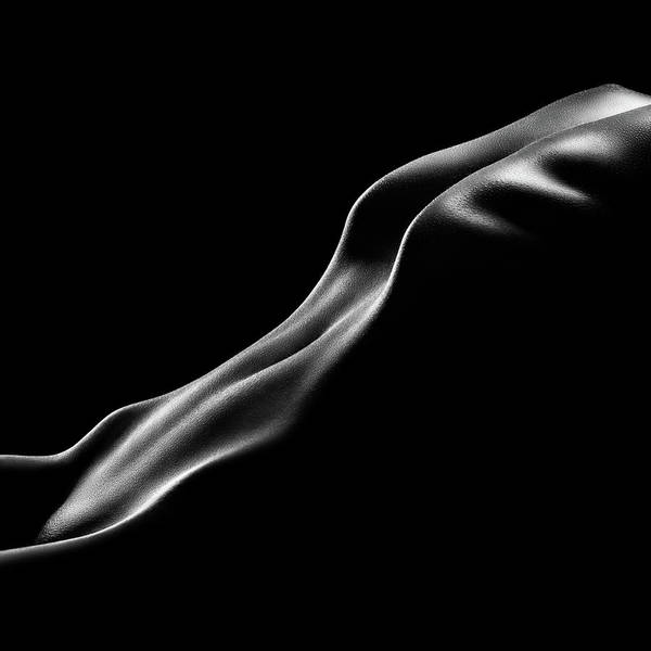 Upper Body Photograph - Nude Woman Bodyscape 10 by Johan Swanepoel