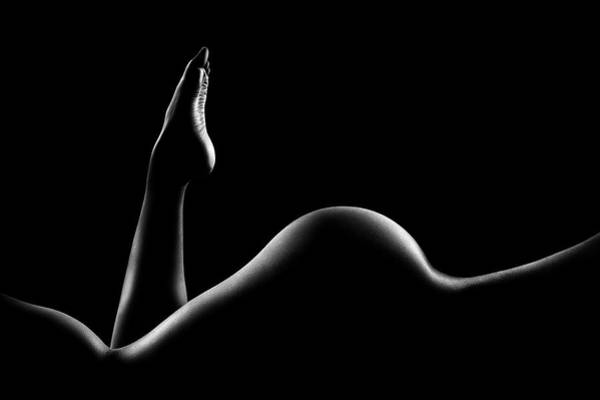 Stomach Wall Art - Photograph - Nude Woman Bodyscape 14 by Johan Swanepoel