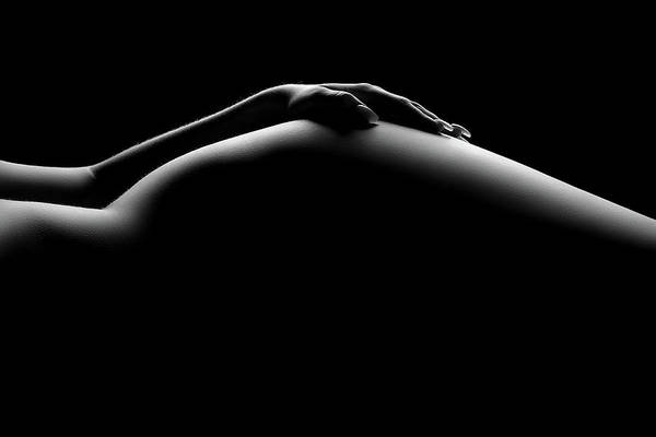 Close-up Photograph - Nude Woman Bodyscape 19 by Johan Swanepoel