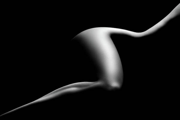 Black And White Abstract Photograph - Nude Woman Bodyscape 9 by Johan Swanepoel