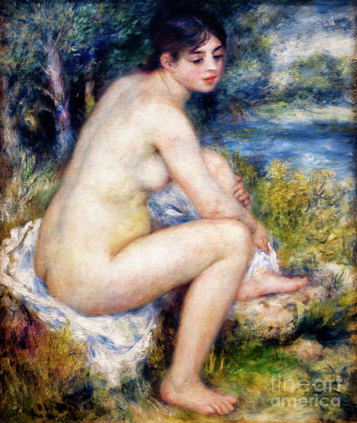 Painting - Nude Woman In The Country By Renoir by Auguste Renoir