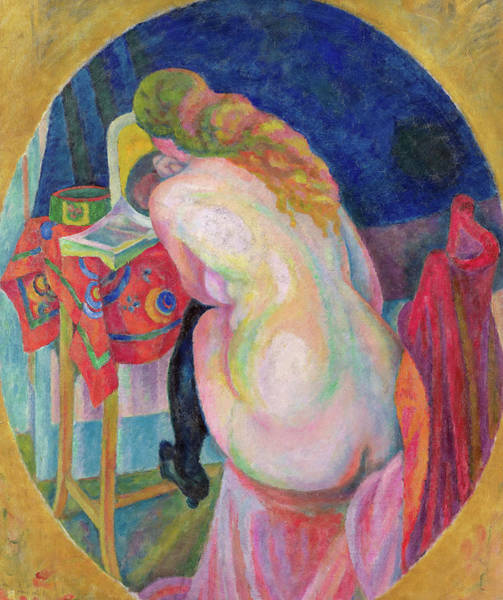 Wall Art - Painting - Nude Woman Reading, 1915 by Robert Delaunay