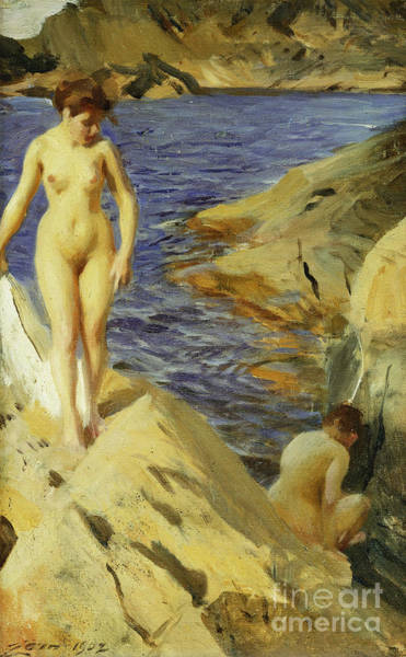 Wall Art - Painting - Nudes, Nakt, 1902 by Anders Leonard Zorn