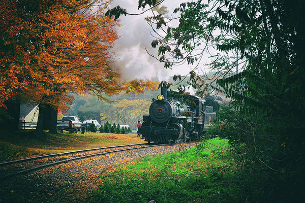 Photograph - Number 40 Coming Through The Fall Colors by Jeff Folger
