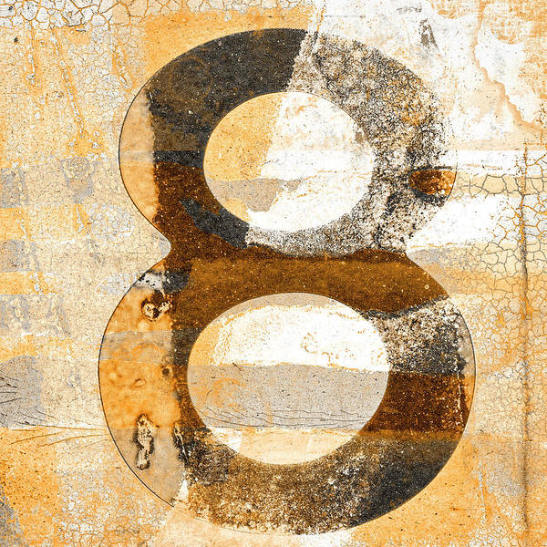 Wall Art - Mixed Media - Number 8 In Sepia Brown Beige by Carol Leigh