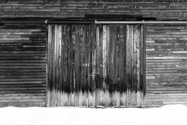 Wall Art - Photograph - Numbers On An Old Barn Door Windsor Vermont by Edward Fielding