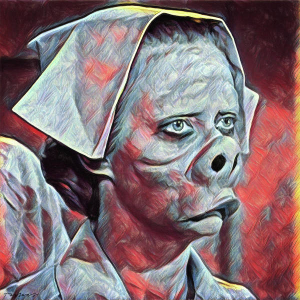 Wall Art - Painting - Nurse - Eye Of The Beholder by Zapista Zapista