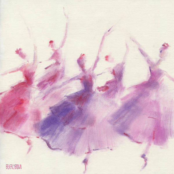 Dancers Wall Art - Painting - Nutcracker Ballet Waltz Of The Flowers by Beverly Brown