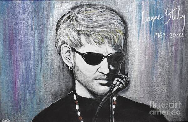 Layne Staley Painting - Nutshell by Faye Young