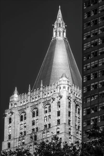 Photograph - Ny Life Ins Building Bw by Susan Candelario